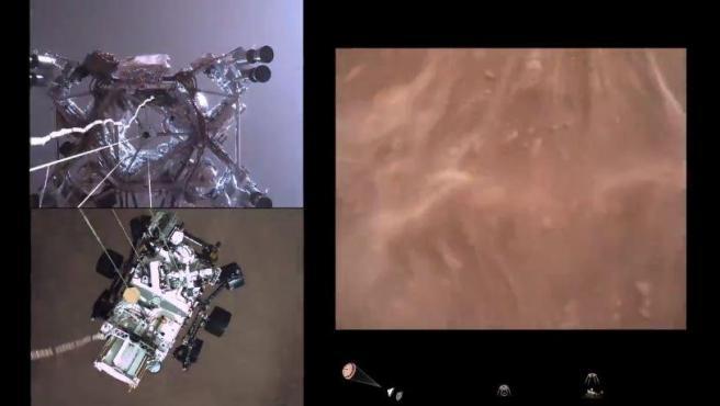 Por primera vez en la historia se ha captura en vídeo un aterrizaje en Marte.