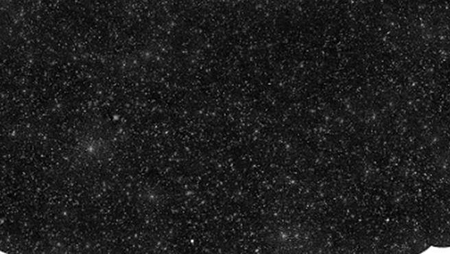 Mapa del cielo que muestra 25.000 agujeros negros supermasivos.