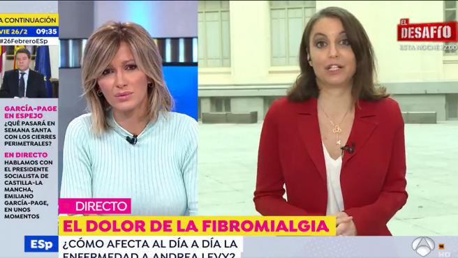 Susanna Griso y Andrea Levy en 'Espejo público'.