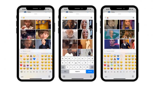 El buscador de stickers y GIFs de WhatsApp permite utilizar emojis para localizar el que quieres.