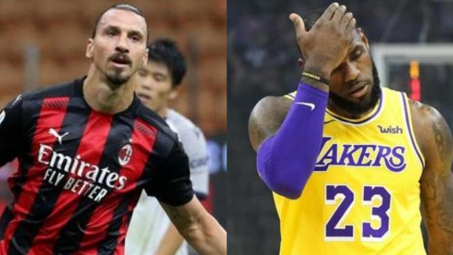 Zlatan Ibrahimovic y LeBron James