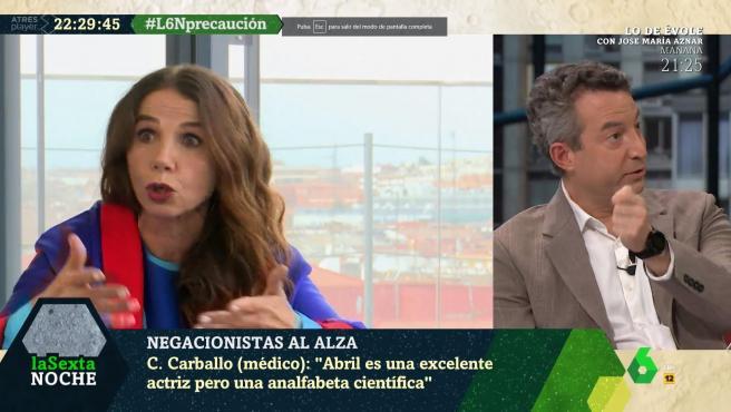 Victoria Abril y César Carballo, en 'La sexta noche'.