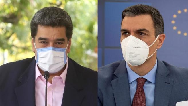 Nicolás Maduro y Pedro Sánchez.