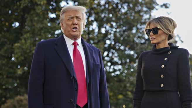 El expresidente de EE UU Donald Trump y su esposa, Melania Trump.