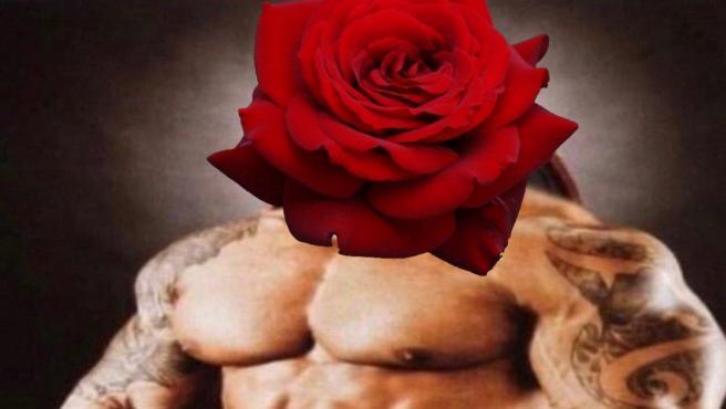 """Una de las propuestas para tatuar una """"rosa masculina""""."""