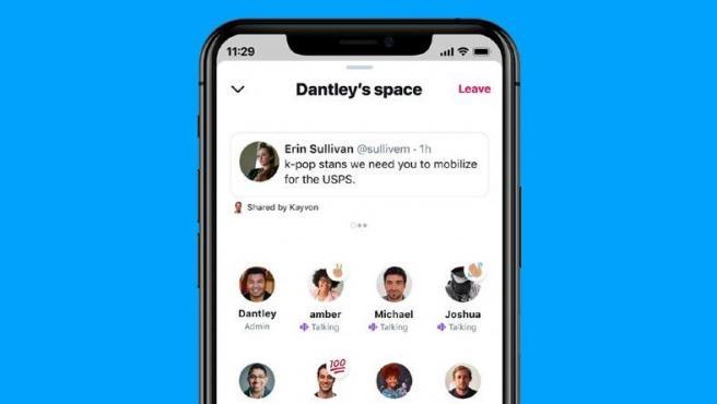 Twitter Spaces es una función de salas de chat por voz con anfitriones.