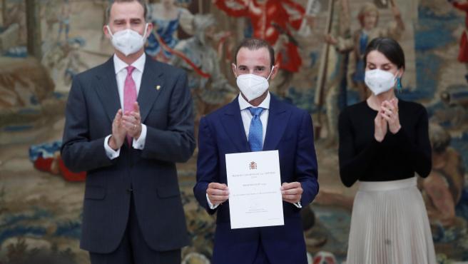 Alejandro Valverde recibe el Premio Rey Felipe