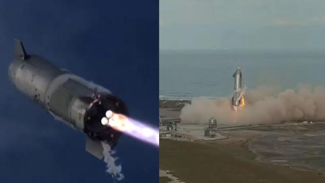 Después de subir algo más de 10 kilómetros, Starship ha bajado suavemente y se ha posado en tierra.