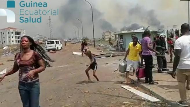 Imagen posterior a la serie de explosiones en Guinea Ecuatorial.