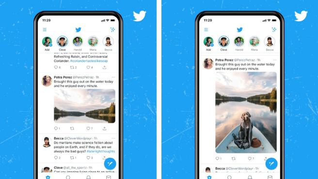 La nueva actualización de Twitter permitirá visualizar las imágenes publicadas sin recortes desde el timeline