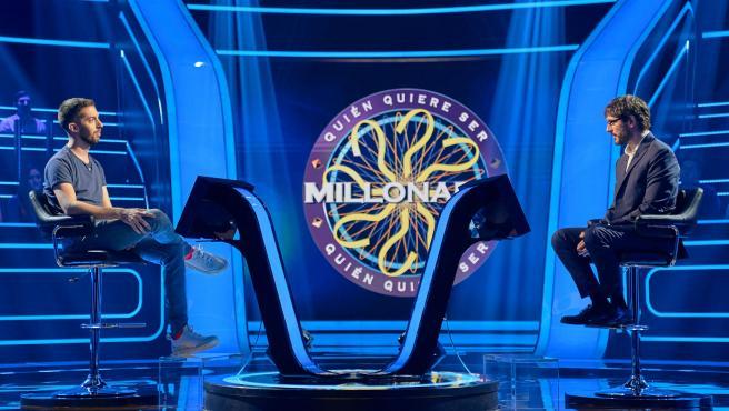 Broncano y Juanra Bonet en '¿Quién quiere ser millonario?'