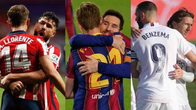 Atlético de Madrid, FC Barcelona y Real Madrid