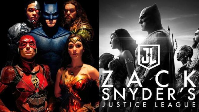 Póster de 'Liga de la Justicia' y de 'La Liga de la Justicia de Zack Snyder'