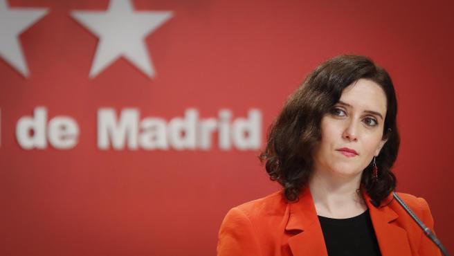 La presidenta de la Comunidad de Madrid, Isabel Díaz Ayuso, en una imagen de este miércoles.