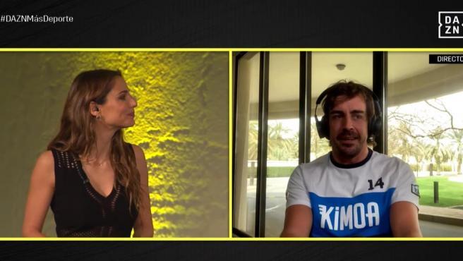 Fernando Alonso, en el aniversario de DAZN