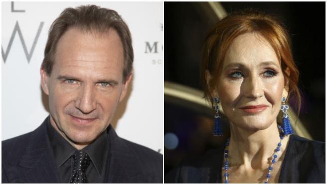 Ralph Fiennes y J.K.Rowling