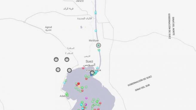 Colapso en el canal de Suez