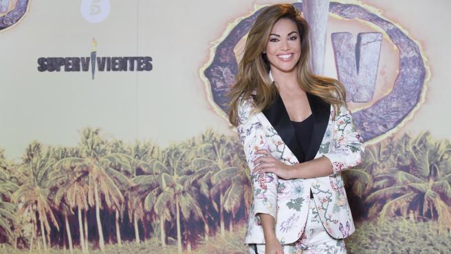 Lara Álvarez, en la presentación de 'Supervivientes 2021'.