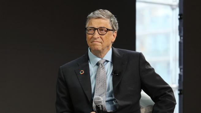 Imagen de archivo de Bill Gates hablando en la ciudad de Nueva York.