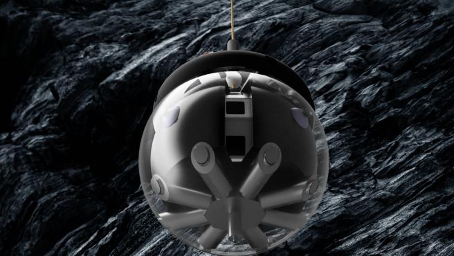 Esta es una imagen prototipo del explorador de cuevas lunares.