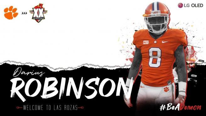 Darius Robinson, ex de la NFL que ahora juega en Las Rozas.