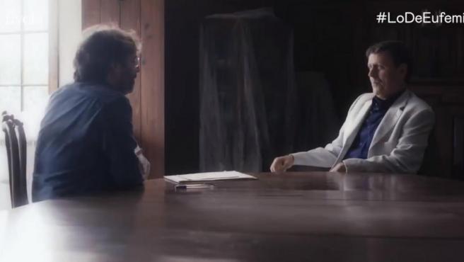 Eufemiano Fuentes con Jordi Évole