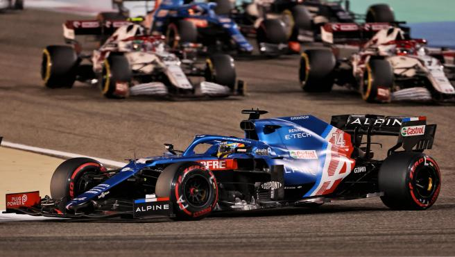 Fernando Alonso, during the Bahrain GP race