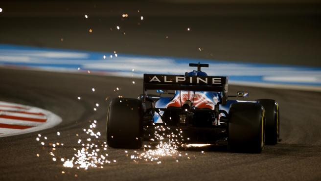 Fernando Alonso, durante el GP de Bahréin