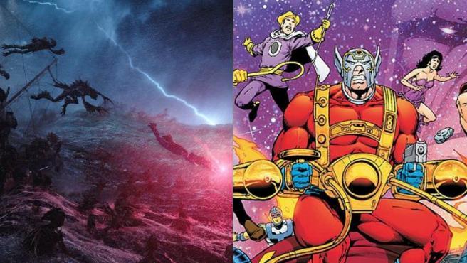 Imágenes de 'Aquaman' y el cómic 'New Gods'