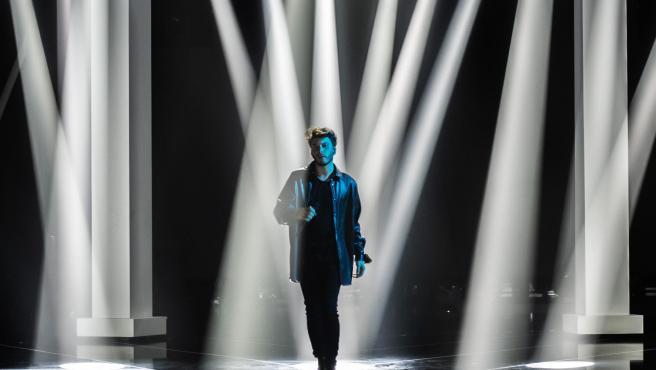 Blas Cantó durante los ensayos de 'Destino Eurovisión' de RTVE.