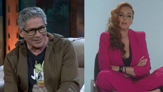 Combo de imágenes de Boris Izaguirre en 'La Resistencia' y Rocío Carrasco en la serie documental sobre su vida que emite Telecinco.
