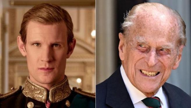 Matt Smith y el príncipe Felipe de Edimburgo