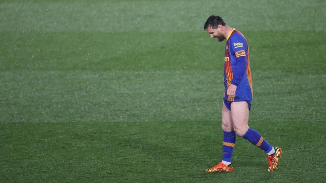 Leo Messi, cabizbajo en el Clásico