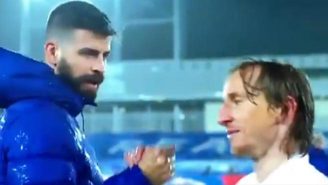 Piqué y Modric, tras el Clásico