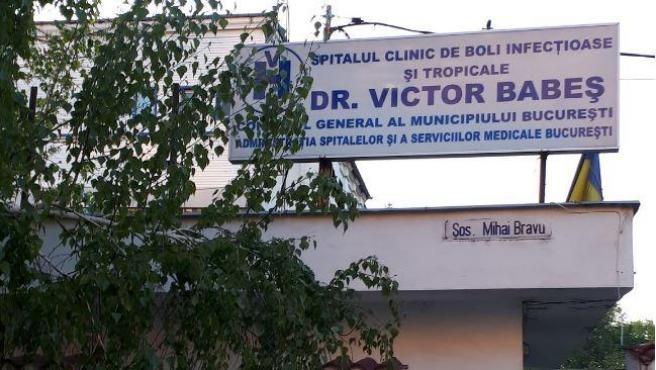 Imagen de archivo de la entrada al hospital Victor Babes, en Bucarest.