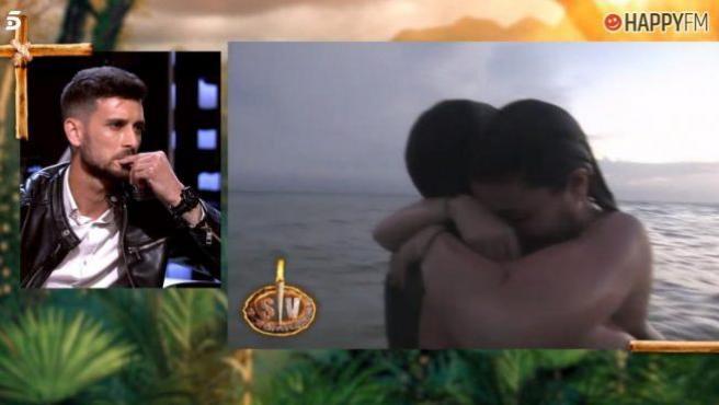Iván Rubio, novio de Lola, presencia un abrazo de esta con Gianmarco.