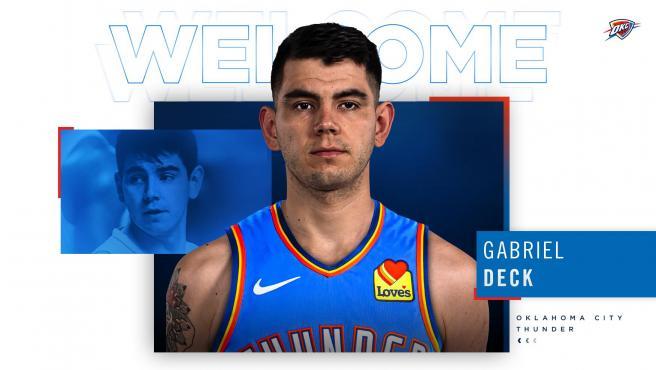 Gabriel Deck, nuevo jugador de los Oklahoma City Thunder.