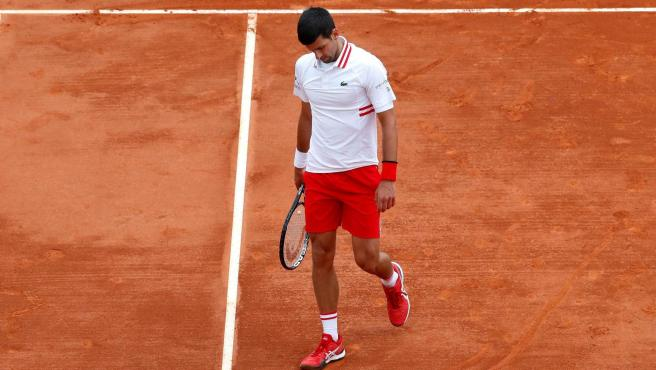 Novak Djokovic durante los octavos de final de Montecarlo.