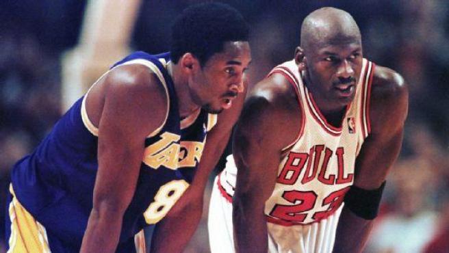 Kobe Bryant y Michael Jordan, cara a cara.
