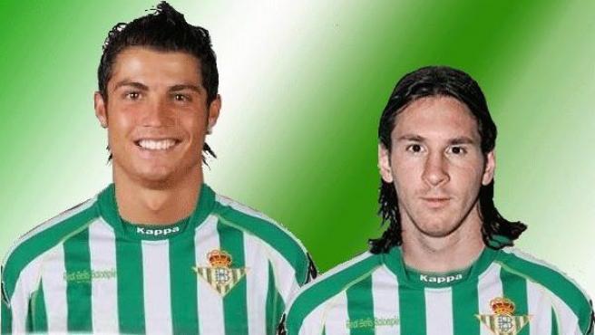 Cristiano y Messi, con la camiseta del Betis