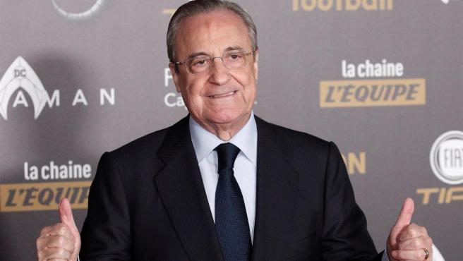 El presidente del Real Madrid y de la Superliga, Florentino Pérez.
