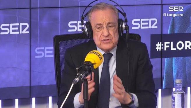 Florentino Pérez, en 'El Larguero'.