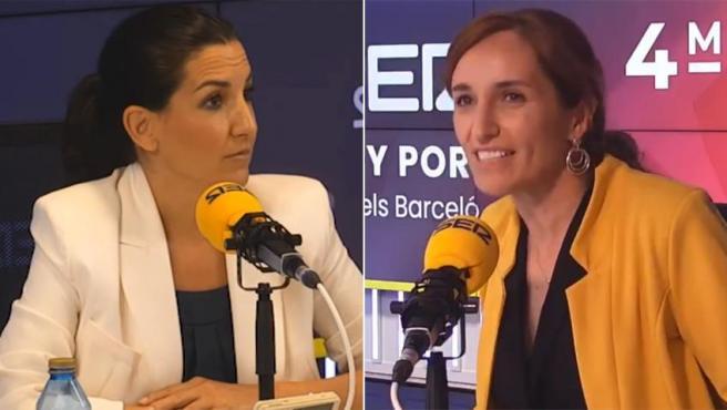 Momento de tensión durante el debate entre Rocío Monasterio y Mónica García.