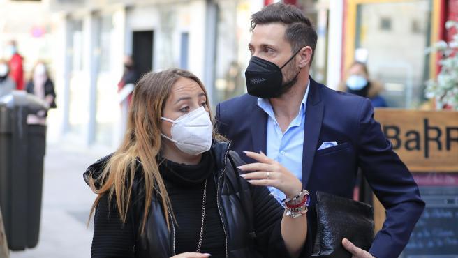 Antonio David y Rocío Flores, por las calles de Madrid el pasado mes de febrero.