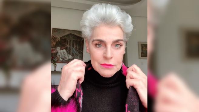 Antonia Dell'Atte en un vídeo de Instagram.