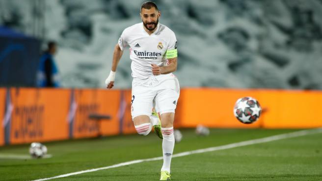 Karim Benzema, durante un partido