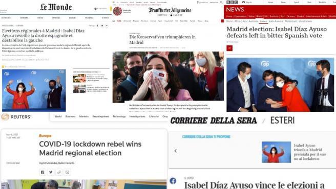 Reacción de la prensa internacional a la victoria de Ayuso.