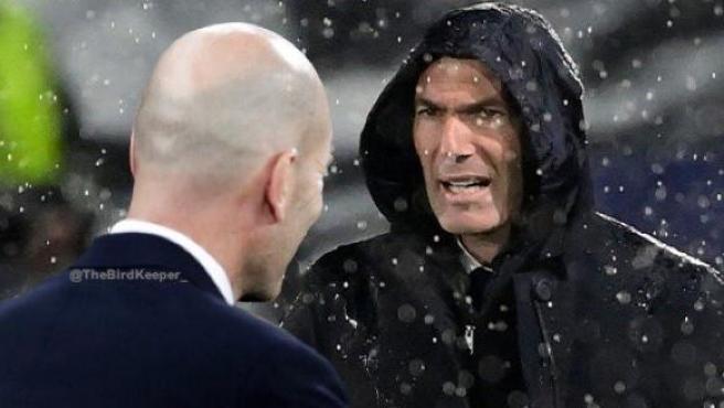 Zidane vs.  Dark Zidane, one of the Chelsea-Real Madrid memes