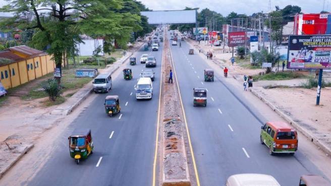 Carretera en el estado de Abia, al sureste de Nigeria.