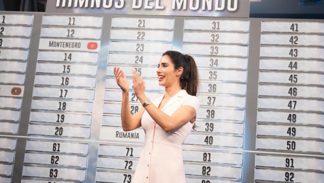 Pilar Rubio, en 'El hormiguero'.